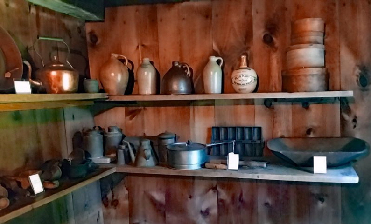 PANTRY: The pantry was used for food storage and cooking utensils.